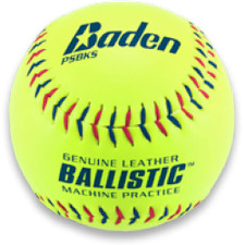 One Dozen Baden Ballistic Yelllow Softballs from On Deck Sports