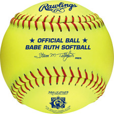 "One Dozen 12"" Rawlings Babe Ruth League Softballs"