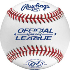 One Dozen Rawlings FSR100X Flat Seam College Practice Baseballs