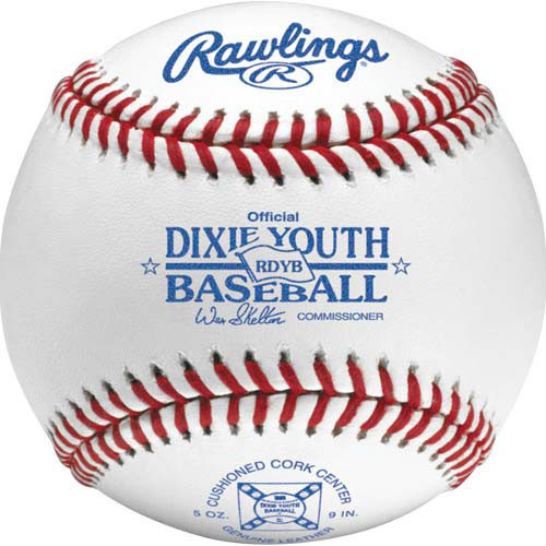Rawlings RDYB Raised Seam Dixie Youth League Baseballs