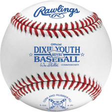One Dozen Rawlings RDYB1 Raised Seam Dixie Youth League Baseballs from On Deck Sports