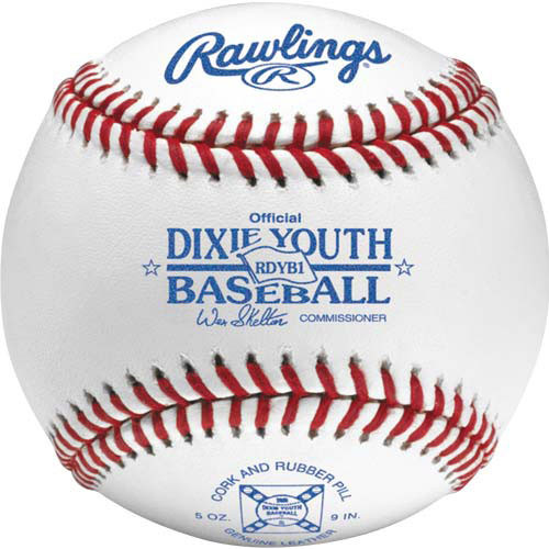 Rawlings RDYB1 Raised Seam Dixie Youth League Baseballs
