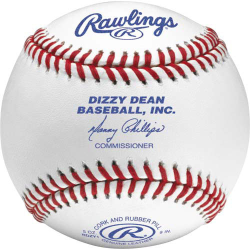 One Dozen Rawlings RDZY1 Raised Seam Dizzy Dean League Baseballs
