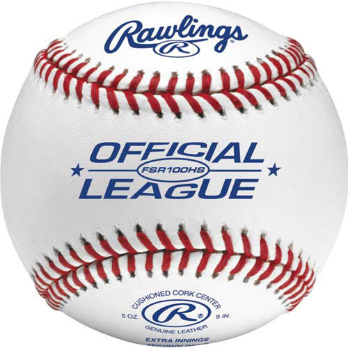 One Dozen Rawlings FSR100HS Flat Seam High School Baseballs