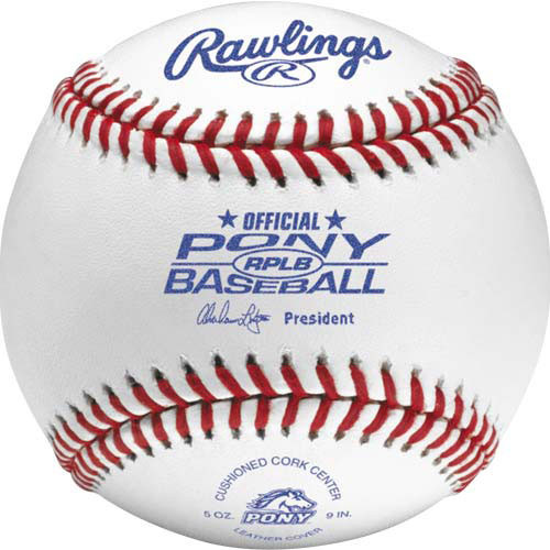 One Dozen Official Rawlings RPLB Pony League Baseballs from On Deck Sports