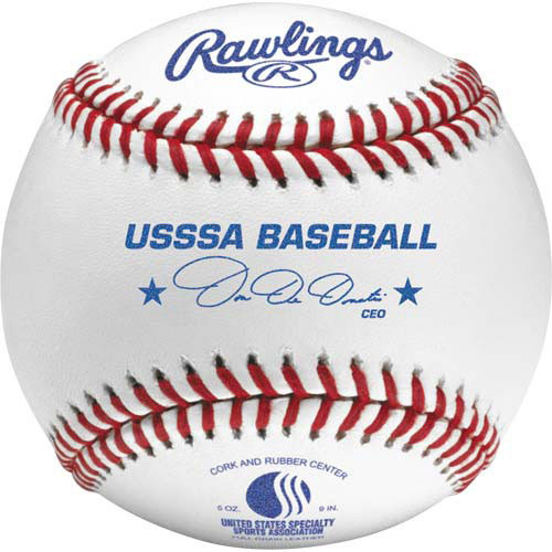 One Dozen Rawlings ROLBUSSSA Raised Seam USSSA Junior Official Baseballs