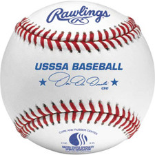 Rawlings ROLB1USSSA Raised Seam USSSA Junior Official Baseballs from On Deck Sports