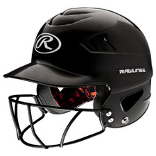 Rawlings Coolflo Batting Helmet With Protective Cage