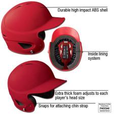 Rubberized Matte Batting Helmet from On Deck Sports