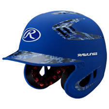 Rawlings Two-Tone Matte Batting Helmet With Digi Camo Colors Safe Up To 80 MPH