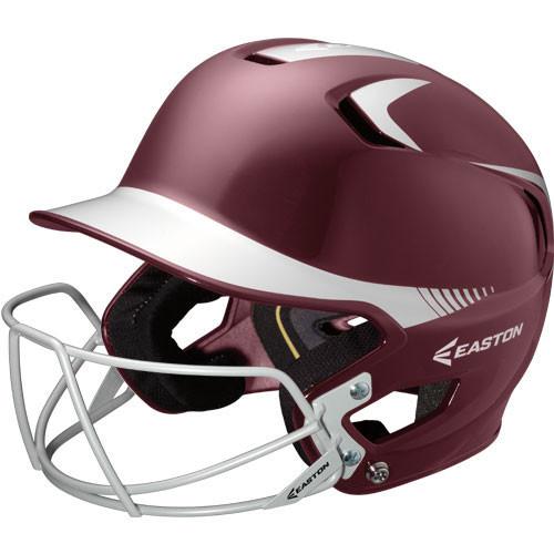 Easton Z5 Two Tone Batting Helmet with Baseball & Softball Mask
