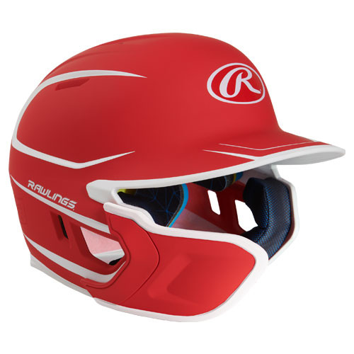 Rawlings Mach Two-Tone Matte Batting Helmet w Jaw Extension