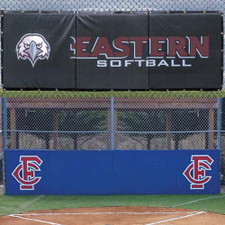 Backstop Padding with Grommets and Graphics