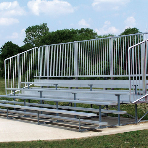 Bleacher Seating with Protective Fencing