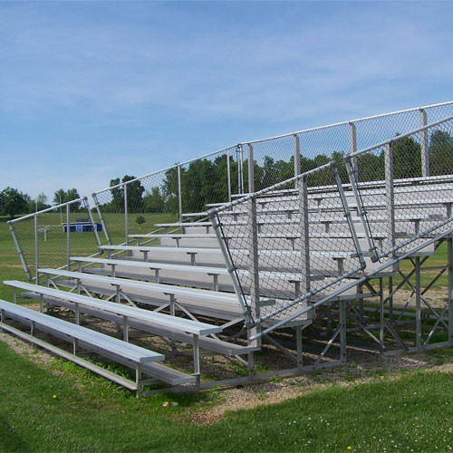Bleachers With Fencing