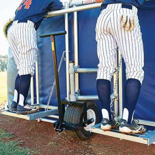 Big Bubba Elite Portable Backstop with Coaches Stand