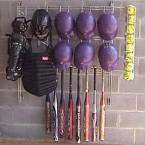 Softball Dugout Organizer Rack