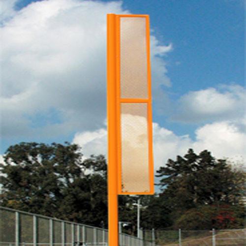 20' Orange Foul Pole - Set of Two