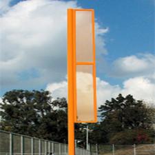 30' Orange Foul Pole - Set of Two