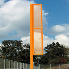 30' Orange Foul Pole - Set of Two