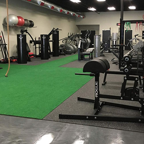 Home Gym Rollout Rubber Flooring Strength Conditioning On