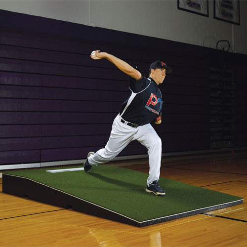 Promounds Promodel Pitching Mound With Green Turf On