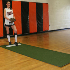 Softball Pitching Mat with Non-Skid Back