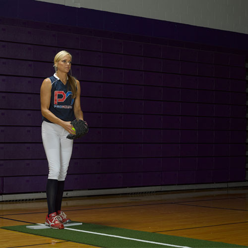 Jennie Finch Softball Pitching Mat w/Powerline
