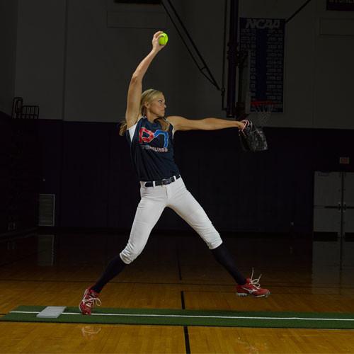 Jennie Finch Softball Pitching Mat w/Powerline