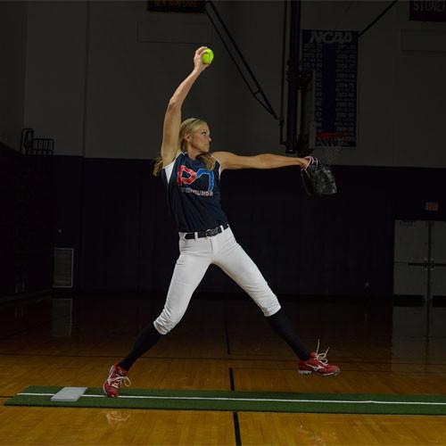 Jennie Finch Foam Back Softball Pitching Mat with Powerline