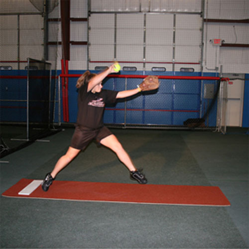 "Softball Pitching Mat with Foam Back: 30"" X 9' Clay Turf"
