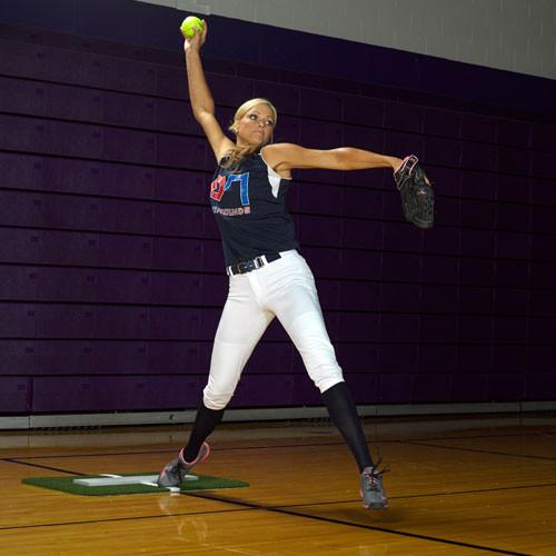 Jennie Finch Softball Pitching Mini-Mat w/Powerline