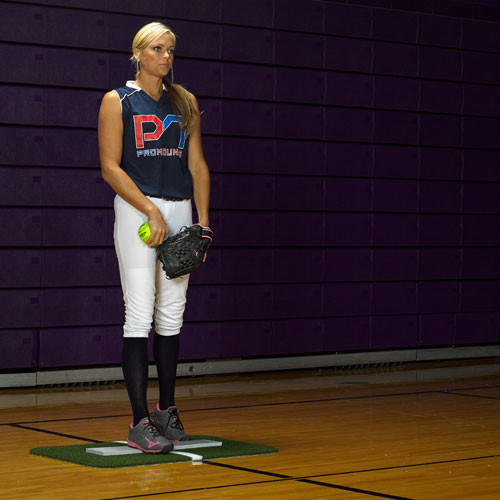 Jennie Finch Softball Pitching Mini-Mat w/Powerline