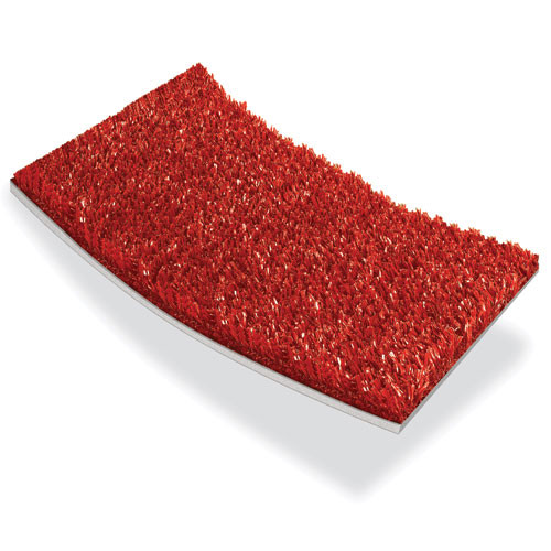 Arena Padded Artificial Turf in Red Color with 5mm Foam Pad