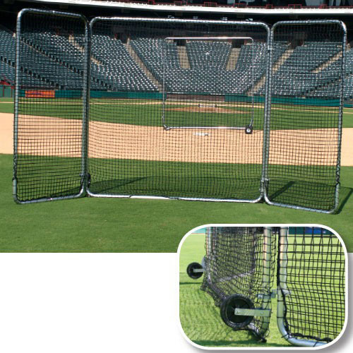 Pro Series Tri-Fold Fungo Field Screen   8'x16'