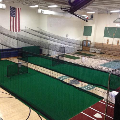 Phantom tension batting cages for Design indoor baseball facility
