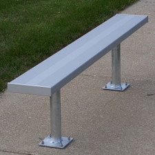 Players Benches Without Backs for Spectator Seating on Sports Fields