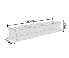 12' x 14' x 70' Premium Nylon Batting Cage Net