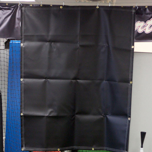 12' x 12' 40 oz Black Vinyl Backdrop