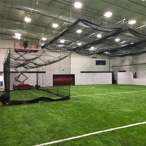 Black Widdow E Ceiling Retractable Batting Cages