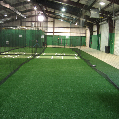 Batting cage flooring gurus floor for Indoor cricket net design