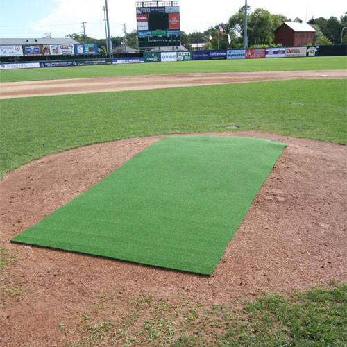 4' x 12' Premium Green Pitching Mat