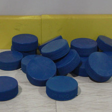 1 Dozen Blue Ice Hockey Pucks