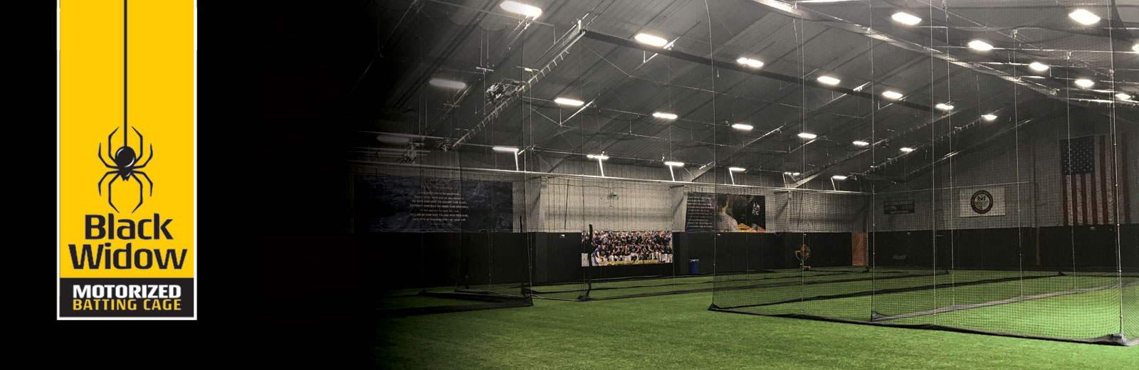 Black Widow Motorized Batting Cages