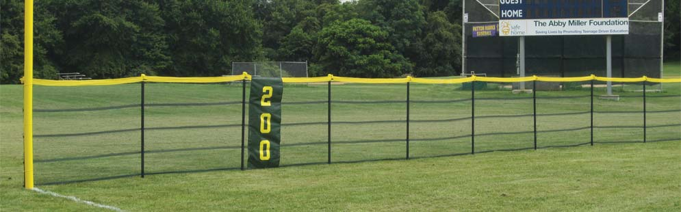 Outfield Fencing Kits for Baseball & Softball Fields, Fence Toppers, and Foul Poles
