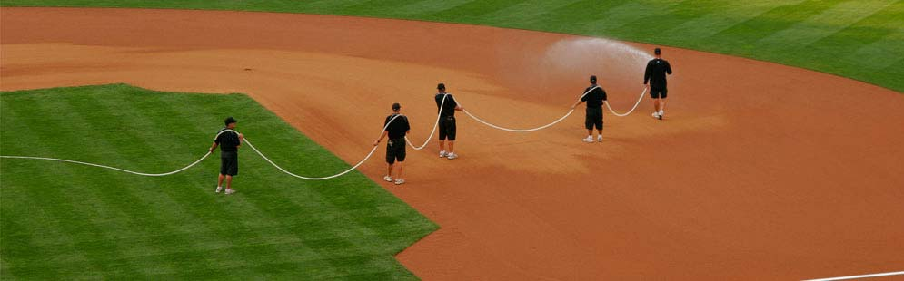 Hoses, Nozels, and Reels for Baseball & Softball Fields