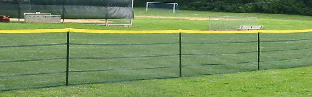 Portable Fencing for Baseball and Softball Fields