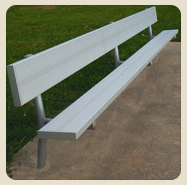 baseball benches with backs