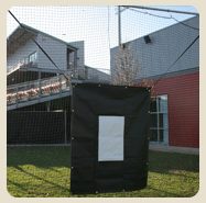 Shop On Deck Sports Black Vinyl Batting Cage Backdrops