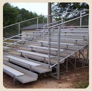 bleachers and benches
